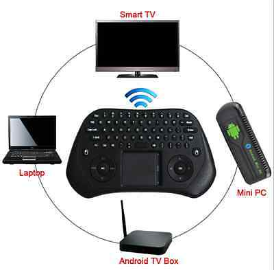 Mini Tastiera WIRELESS WIFI USB mouse Touchpad PC Android SMART TV 2.4GHz tablet