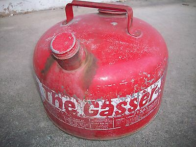 Vintage Eagle, The Gasser, 2 1/2 Gallon Galvanized Gas Can