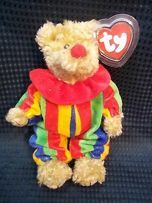 "TY Attic Collection 8"" Jointed Clown Bear ** AZALEA **   NWT"