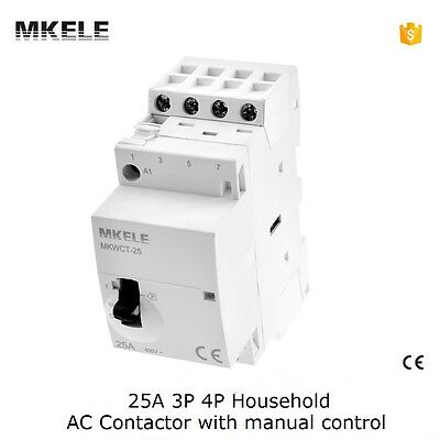 MKWCT-25M Household AC Contactor 25A 3P 3NO 50/60Hz Operated By Manual Control