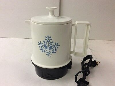 Vintage Electric Regal Floral Poly Hot Pot 5 Cup Coffee Tea Soup Camping Hunting