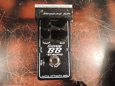 Xotic Bass Bb Preamp Overdrive Booster Effects Pedal Boost Free Usa Ship