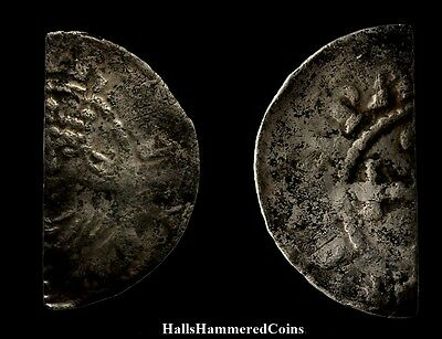 Henry I Cut Half Penny - Type 10 - Warwick or Wallingford (HHC3251)
