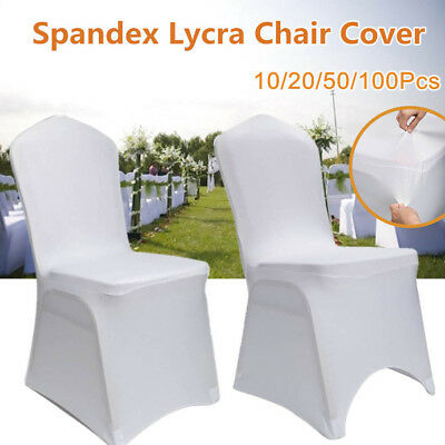 Spandex Lycra Banquet Wedding Chair Cover Party Decor Covers 1-100 Pcs White