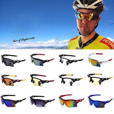 AU Cycling Sunglass Riding Running Sports Bicycle Eyewear Goggle UV400 Lens
