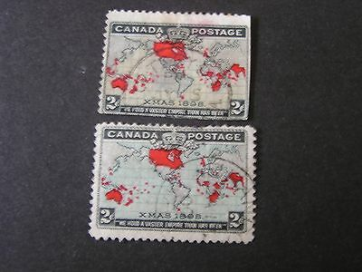 *CANADA, SCOTT # 85/86 (2), 2c VALUES 1898 IMPERIAL PENNY POSTAGE ISSUE USED