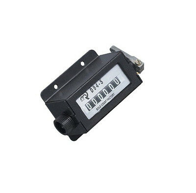 1PCS NEW D94-S Casing 6 Digits Mechanical Pull Stroke Counter Black Color