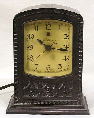 Vintage Warren Telechron Clock Model M1 Circa 1920s Cathedral Style WORKS