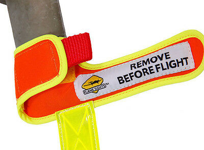 Plane Sights Angled Pitot Tube Cover - High Visibility Reflective - PSGAPTC0707