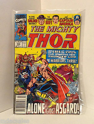 Marvel Comics The Mighty Thor Alone Against Asgard! No.434 July 1991
