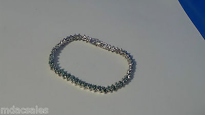 NEW! Sterling Silver Natural Emerald Bracelet 4.48ct