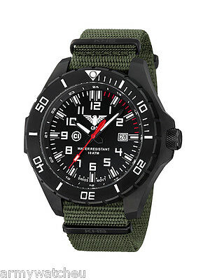 KHS Tactical Watches Reloj Militar alemán Army Watch Date black coated  C1 Light
