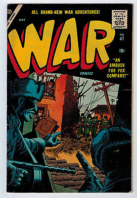 War Comics #47 5.0 Atlas Severin Cover Off-White Pages Silver Age