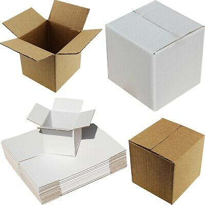 White Or Brown Cube Boxes Mailer Presentation Storage Mug Cup Tea Set Packaging