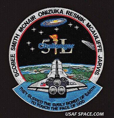 CHALLENGER STS-51L 30TH ANNIVERSARY Commemorative Tim Gagnon SPACE PATCH - MINT