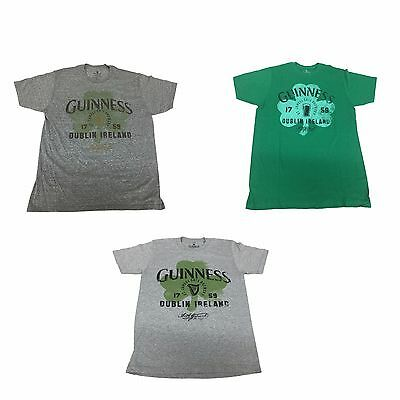 afbe8bb01 Guinness Beer St. James Gate Brewery Est 1759 Clover Logo Men's T Shirt 3  STYLES