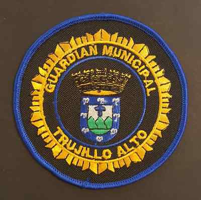 Vintage Embroidered Puerto Rico Police Patch / Guardian Municipal Trujillo Alto