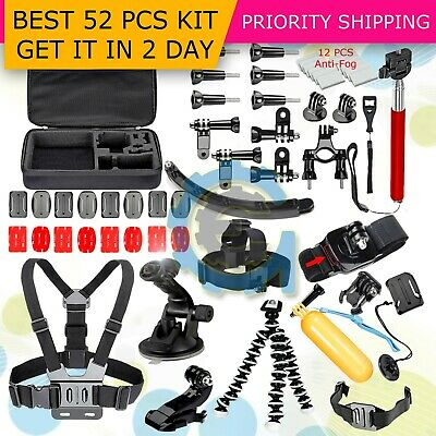 51in1 Head Chest Mount Floating Monopod Accessories Kit For GoPro 2 3 4 5 Camera