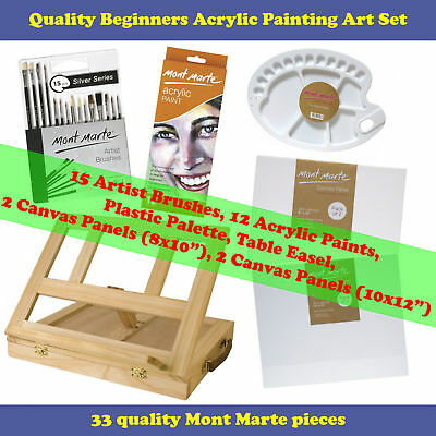 Kids or Beginners Acrylic Painting Art Set (33 pce)