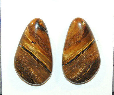 Tiger Iron 24x14mm with 4.5mm dome Cabochon From Australia set of 2 (10625)