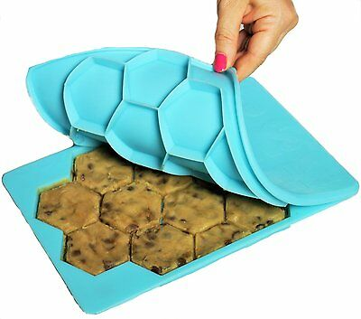 The Smart Cookie 2 pack Shape and Store n Freeze Cookie Cutter holds one dozen