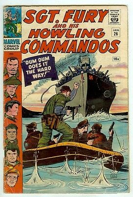Sgt Fury and his Howling Commandos #26 (1966, vg 4.0) Dick Ayers art