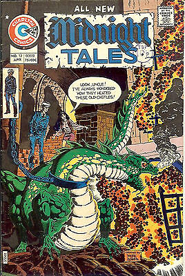 Midnight Tales #12 (1974; vf- 7.5) Newton/Adkins, Steve Ditko & Wayne Howard art