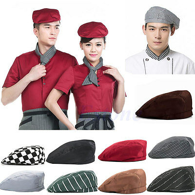 Fashion Men Women Chef Hat Catering Baker Kitchen Cook Duckbill Beret Golf Caps