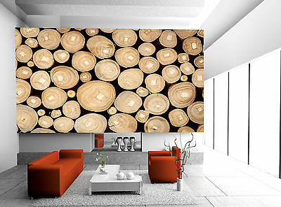 Wood Log Background  Wall Mural Photo Wallpaper GIANT WALL DECOR PAPER POSTER