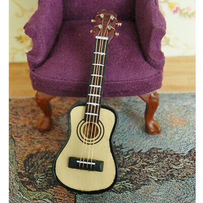 Dolls House Miniature Music Room Accessory Guitar Musical Instrument 1:12 Scale