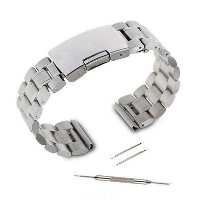 Silver Stainless Steel Metal Watch Band Strap for Pebble Time Smartwatch+Tools