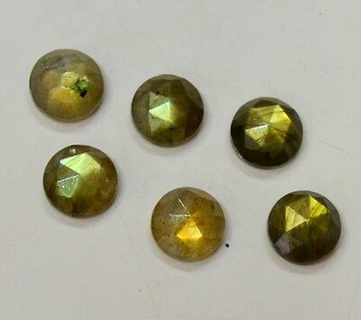 Aaa Quality 15 Pc Natural Labradorite Round 10X10 Mm Rose Cut Loose Gemstone