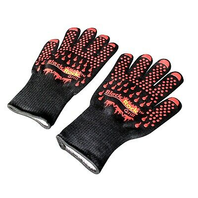 Heat Resistant Gloves 500c BBQ Aga Oven Silicon Kevlar Safety BBQ Rayburn
