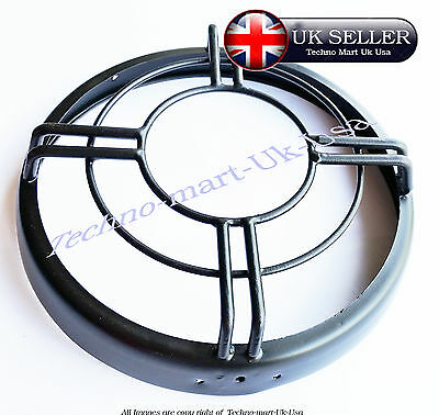 "Royal Enfield Headlight Headlamp Protective Grill Cover 7"" (O Ring ) @uk"