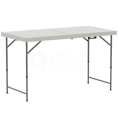 Folding Table 4ft Heavy Duty Trestle Camping Party Picnic BBQ Garden Indoor