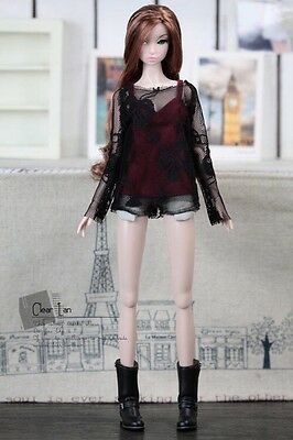 Momoko MMK Doll Outfit Black Lace Blouse