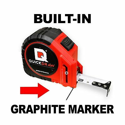NEW QUICKDRAW PRO Self Marking 25' Foot Tape Measure - 1st Measuring Tape with a