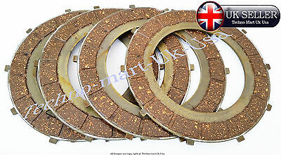 Genuine New  Royal Enfield Clutch Friction Plate Kit 4 Pcs Part No #597383