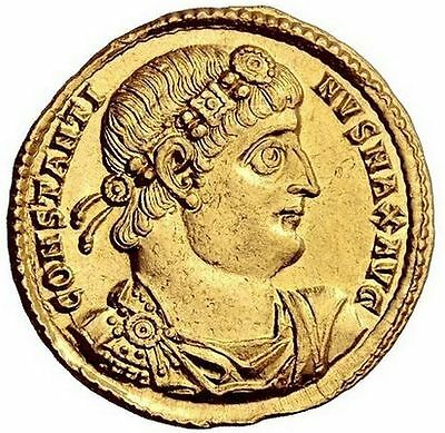 CONSTANTINE theGREAT 335AD Antiochia Gold Solidus Authentic NGC Certified ChAU