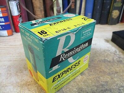 REMINGTON EXPRESS  LOADS empty 16 GAUGE shotgun shell box ORIGINAL