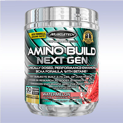 MUSCLETECH AMINO BUILD NEXT GEN (30 SERVINGS) bcaa glutamine acids energized