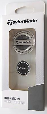 TaylorMade Brushed Nickel Dual Large Medallion & Ball Marker Coin Set NEW M1 M2