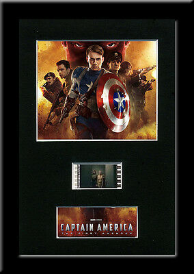 Captain America Framed 35mm Mounted Film cells - filmcell movie