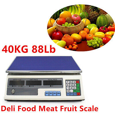 88 lb Electronic Retail Grocery Food Meat Price Calculator Counting Store Scale