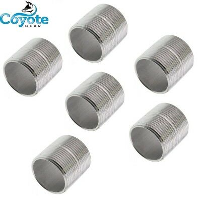 6 Pack Lot 3/4 NPT X CLOSE 304 Stainless Steel Pipe Nipple Coyote Gear SS S/40