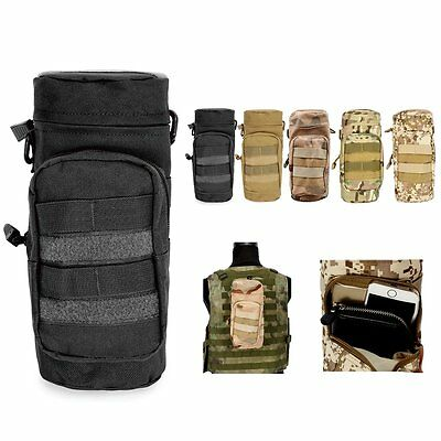 Outdoor Tactical Military Molle System Water Bottle Bag Kettle Pouch Holder Bag