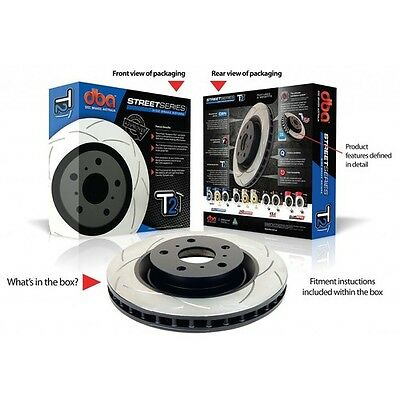 2 x DBA2107S DBA T2 Slotted Disc Rotors for front Ford Territory 322mm