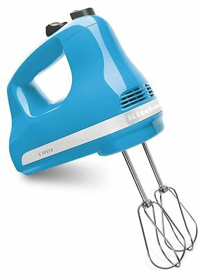 Kitchen Aid KHM512CL 5-Speed Heavy Duty Hand Mixer, Crystal Blue