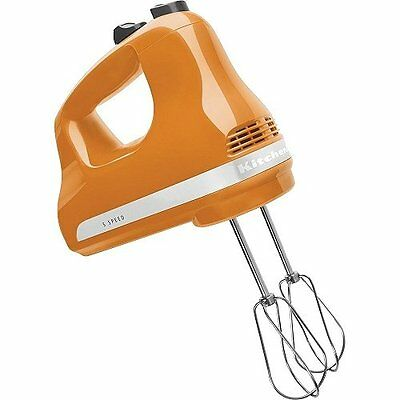 Aid KHM512Kitchen TG 5-Speed Heavy Duty Hand Mixer, Tangerine