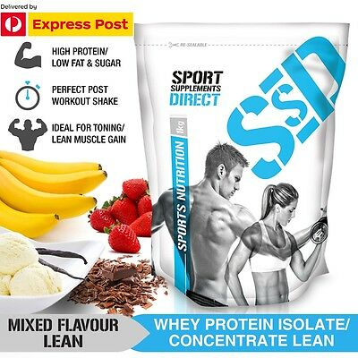 5Kg Lean Whey Protein Powder - Express Post - 100% Wpi / Wpc Pick Your Flavour